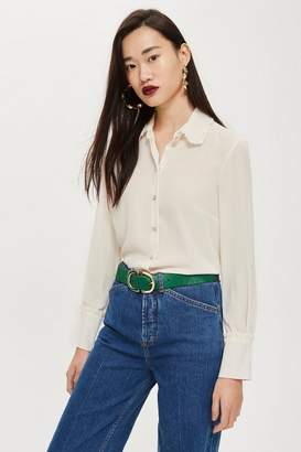Topshop Ruffle Collar Shirt