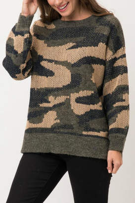 Pretty Little Things Camo Pullover Sweater