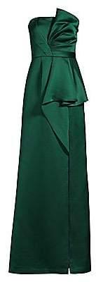 Aidan Mattox Women's Draped Strapless Satin Gown - Size 0