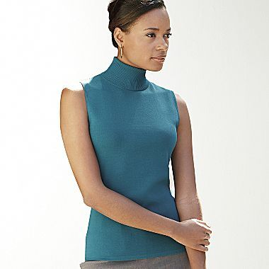 Clearance! east5th® Sleeveless Knit Turtleneck