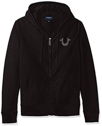 True Religion Men's Shoestring Horseshoe Hoodie, XXL