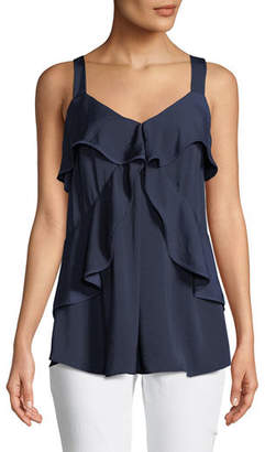 MICHAEL Michael Kors Layered-Tier Sleeveless Top
