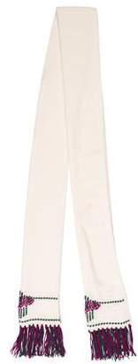 Chanel Paris-Bombay Embellished Cashmere Scarf