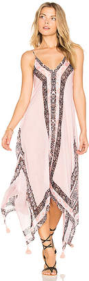 Seafolly Border Print Dress in Pink $192 thestylecure.com