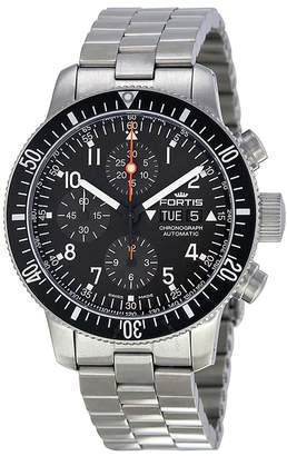 Fortis B-42 Cosmonaut Chronograph Black Dial Men's Watch 6381011M
