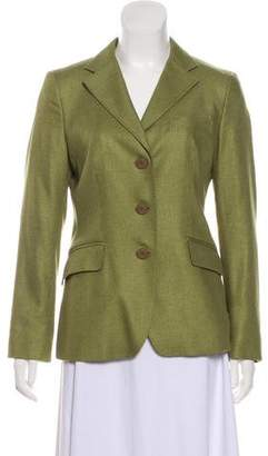 Max Mara Silk-Blend Button-Up Blazer