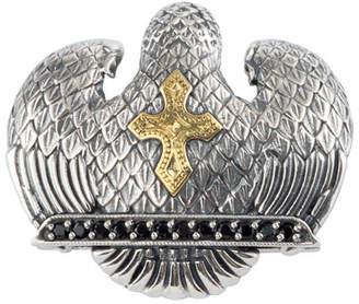 Konstantino Men's Sterling Silver & 18K Gold Eagle Pendant with Spinel