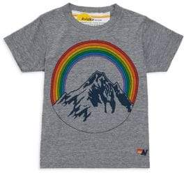 Aviator Nation Little Girl's& Girl's Mountain Rainbow Cotton Tee