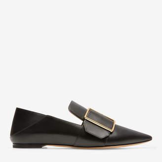 Bally Hamelia Black, Women's plain calf leather slipper in black