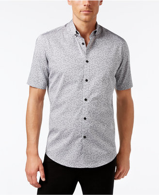 Alfani Men's Big and Tall Slim Fit Pattern Shirt, Only at Macy's $60 thestylecure.com
