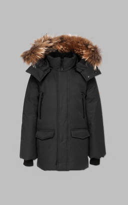 Mackage JO-T winter down knee length coat with fur