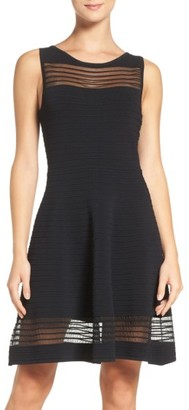 Women's French Connection Tobey Crepe Fit & Flare Dress $158 thestylecure.com