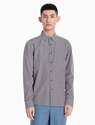 Calvin Klein gingham woven cotton shirt