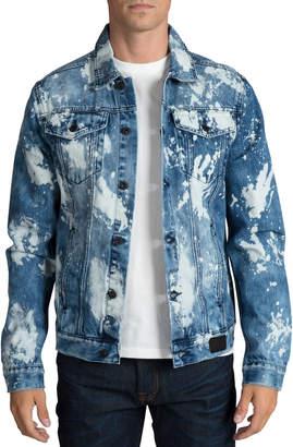 PRPS Men's Graphic-Logo Bleached Denim Jacket