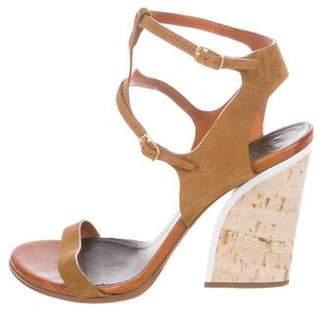 Chloé Suede Ankle-Strap Sandals