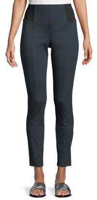 St. John Denim Ponte Cropped Slim Pants