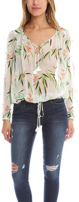 Elizabeth and James Leaf Print Top