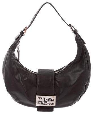 Fendi Leather Flap Hobo