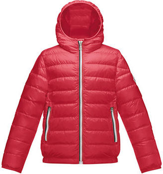 Moncler Athenes Hooded Down Jacket, Size 8-14 $490 thestylecure.com