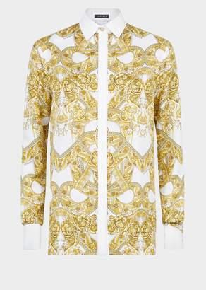 Versace Barocco Istante Silk Shirt