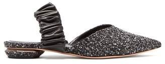 Nicholas Kirkwood Courtney Boucle Slingback Loafers - Womens - Black White