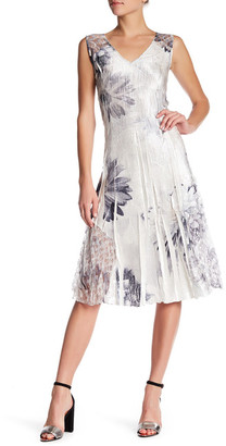 KOMAROV Sleeveless Lace Trim Dress $272 thestylecure.com