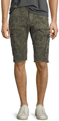 True Religion Touring Camouflage-Print Moto Shorts