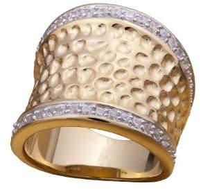 Alvina Alivna - ZR 3600 GOLD Ring - 925/1000 Sterling Silver-Cubic Zirconia 60 silver