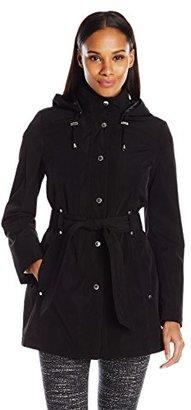 Nautica Women's Belted Raincoat $65.49 thestylecure.com