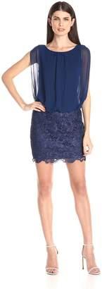 Aidan Mattox Aidan by Women's Sleevless Lace Blousson Cocktail Dress