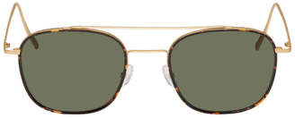 Viu VIU Tortoiseshell and Gold Closed Edition The Idealiste Sunglasses