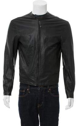 Uri Minkoff Mandarin Collar Leather Jacket