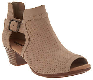 Clarks Leather Perforated Open Toe Sandals -Valarie Kimble