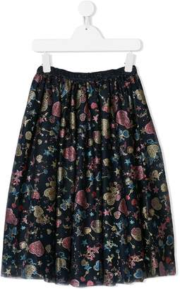 Christian Dior printed flared skirt