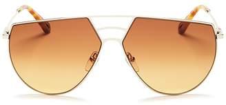Chloé Women's Ricky Triple Bridge Gradient Aviator Sunglasses, 62mm
