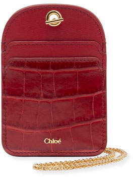 Chloé Walden Card Case on Chain