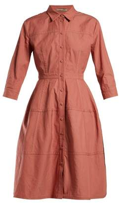 Bottega Veneta Cotton Canvas Shirtdress - Womens - Pink