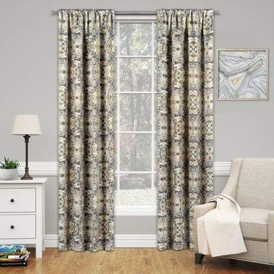 SolarShield® Cavendish 63-Inch Rod Pocket Room Darkening Window Curtain Panel in Ochre