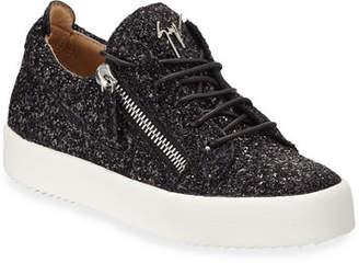 Giuseppe Zanotti May Coarse Glitter Platform Sneakers