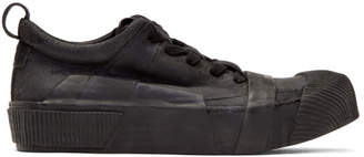 Boris Bidjan Saberi Black Waxed Sneakers