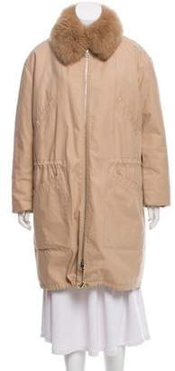 Yves Salomon Fur-Accented Long Parka