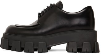 Prada 55mm Leather Lace-Up Shoes