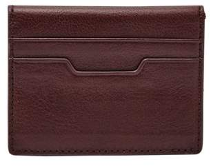 Fossil Ellis Magnetic Card Case Wallet Wine