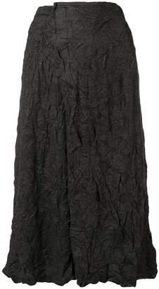 Plantation crinkled-effect skirt