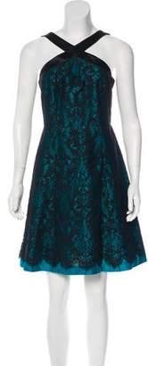 Draper James Satin-Trimmed Lace Dress