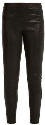 Elizabeth and James Sterling Stretch Leather Leggings - Womens - Black