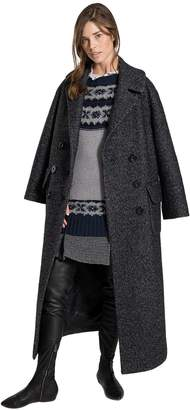 Max Studio heather wool boucle maxi coat