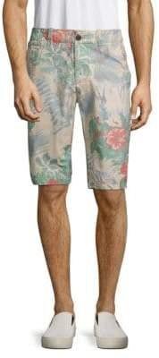 Jet Lag Floral-Print Cotton Shorts