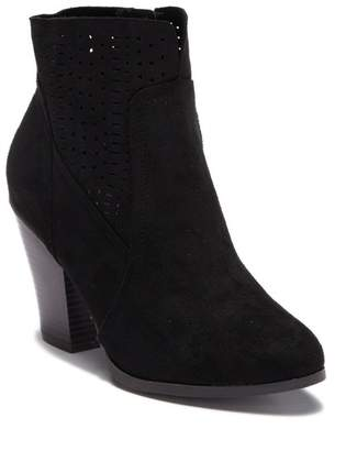 a2d3b5b1fdb at Nordstrom Rack · Wild Diva Lounge Danielle Perforated Stacked Heel Ankle  Bootie