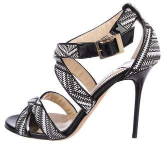 Jimmy Choo Woven Leather Sandals